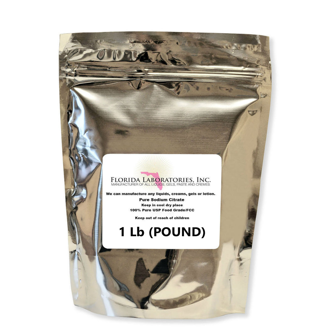 Sodium Citrate, TriSodium Citrate, Dihydrate, USP/FCC Food Grade Safe - 1 Lb & 10 Lbs Available - Isopropyl-Alcohol.Com