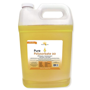Polysorbate 20, Solubilizer, USP, Kosher, 100% Food Grade Safe - Multiple Sizes Available - Always White