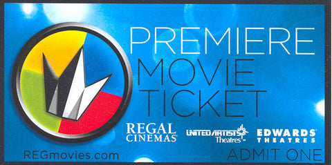"Regal Cinemas ""Admit One"" Card"