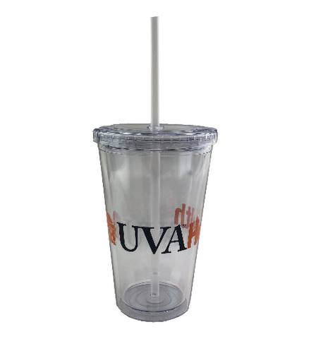 16 Oz. Sedici Double Wall Tumbler With Straw