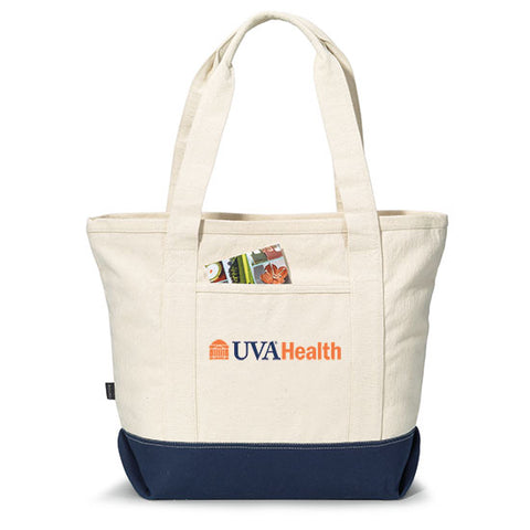 UVA Health System Newport Cotton Zippered Tote