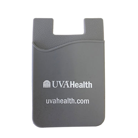 UVA Health System Silicone Phone Wallet - Grey
