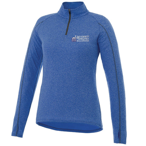 UVA Health System Taza Knit Quarter Zip Women's Blue
