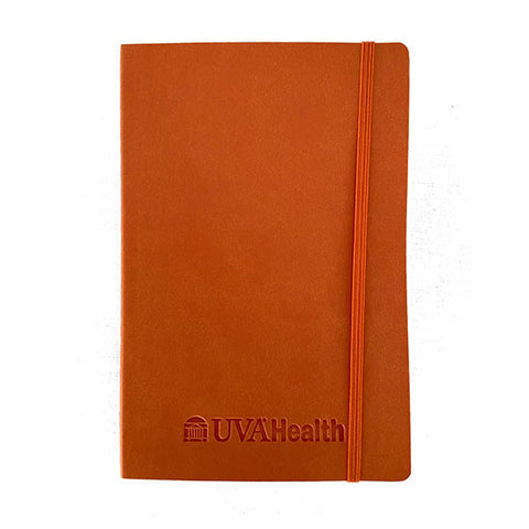 "UVA Health System Soft Bound Journal 5"" x 8"" with Deboss Imprint - Orange"