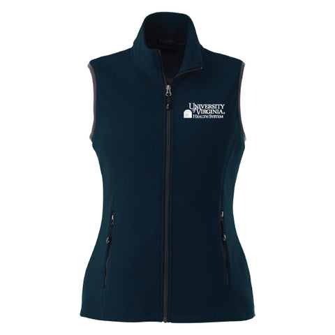 UVA Health System Poly Fleece Vest - Women's Navy
