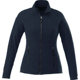 UVA Health System Poly Fleece Full Zip Jacket Womens - Navy - Front View