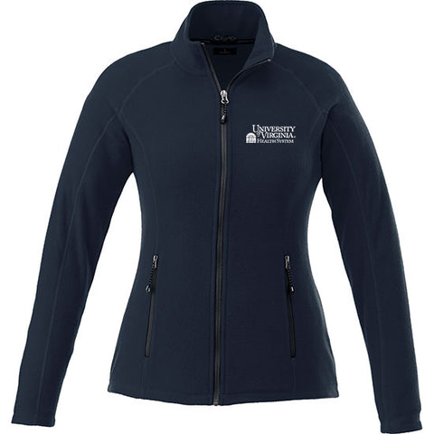 UVA Health System Poly Fleece Full Zip Jacket Mens & Womens - Navy