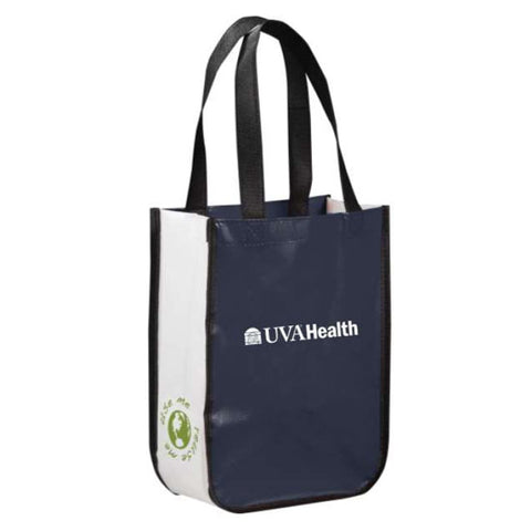 UVA Health System Small Laminated Tote - Navy