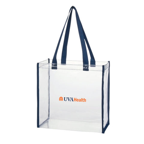 UVA Health System Clear Tote - Navy