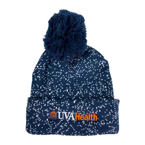 UVA Health System Speckled Pom Beanie - Navy