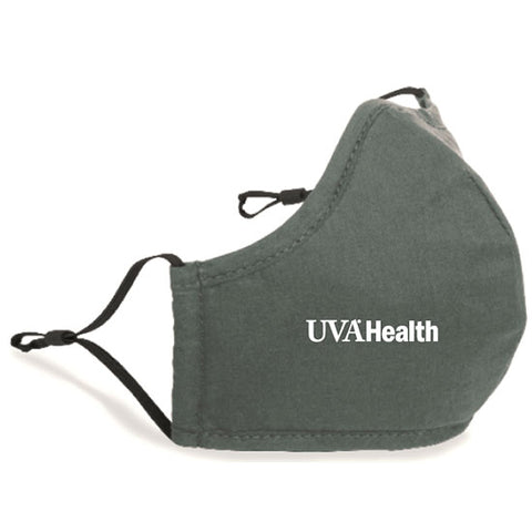 UVA Health System Adjustable Face Mask With Nose Wire - Gray