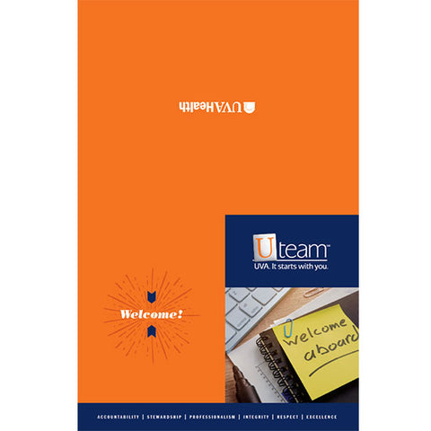 University of Virginia Health System Notecard, 6 x 4 Welcome With Envelope