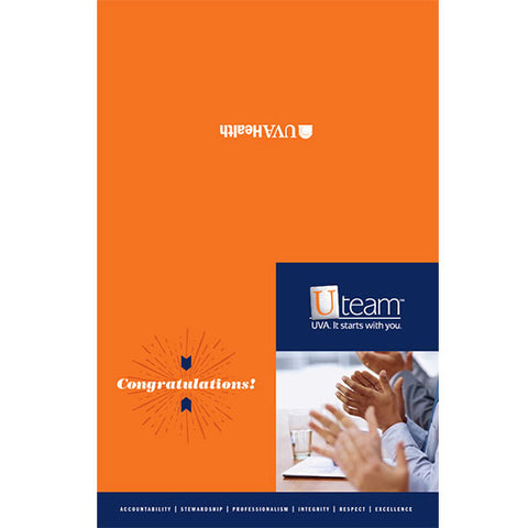 University of Virginia Health System Notecard, 6 x 4 Congratulations With Envelope