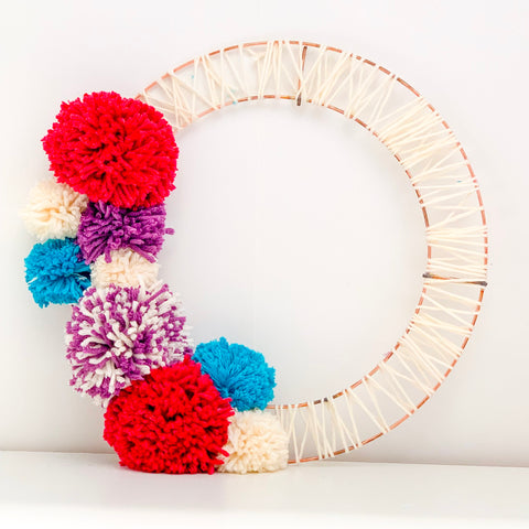 pom pom copper wreath