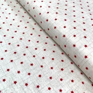 Fabric Felt - Mini Stars - Red