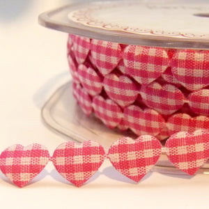 Gingham Heart Trim