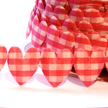 Load image into Gallery viewer, Gingham Heart Trim