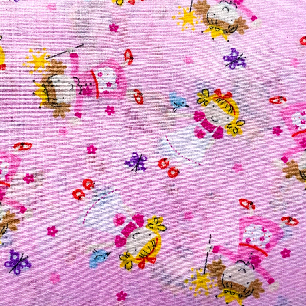 Spring Fabric Felt Sheet - Pretty Princesses - Pink