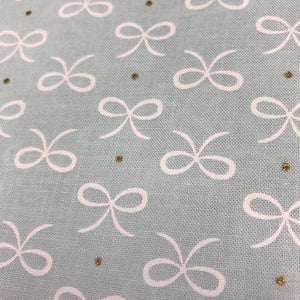 Fabric Felt Sheet - Bitty Bows - Mint