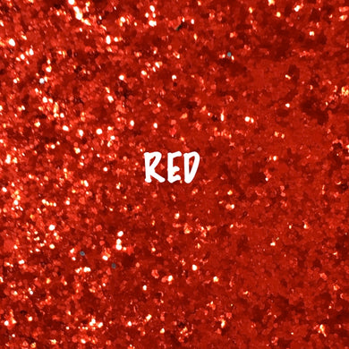 Glitz Chunky Glitter Fabric - Red