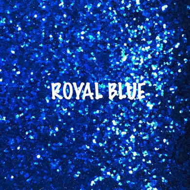 Glitz Chunky Glitter Fabric - Royal Blue