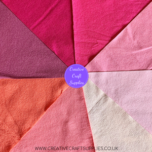 Creative Wool Blend Felt - Colour Collection - Pink