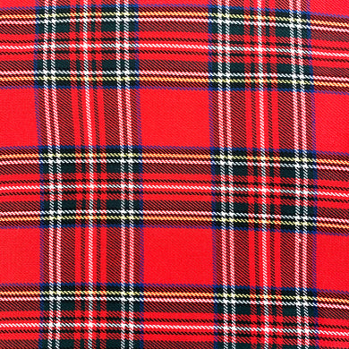 Tartan Fabric Felt Sheet - Red