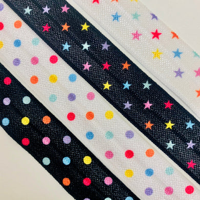 Fold Over Elastic - Stars or Dots