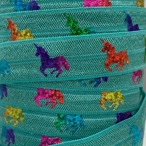 Fold Over Elastic - Unicorns and Mermaids