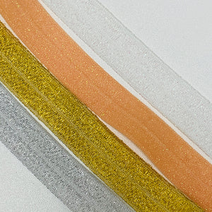 Fold Over Elastic - Plain Glitter
