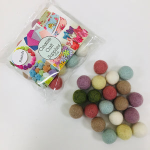Felt Ball Collections - Pastels