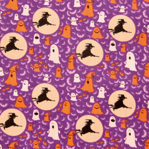 Halloween Fabric Felt Sheet - Flying Witches