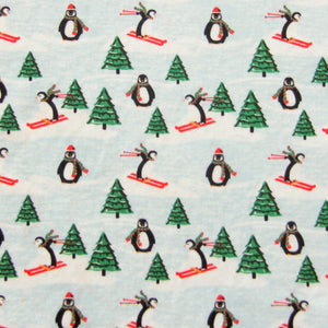 Fabric Felt - Christmas -Skiing Penguins