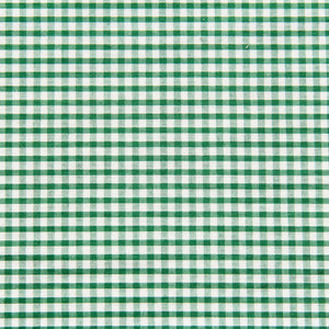 Green Gingham Fabric Felt