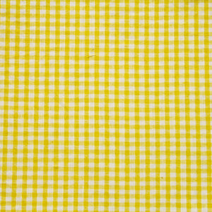 Yellow Gingham Fabric Felt