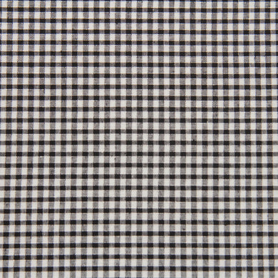 Black Gingham Fabric Felt