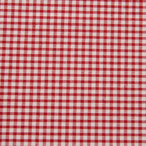 Red Gingham Fabric Felt