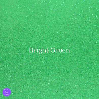 Shimmer Fine Glitter Fabric - Bright Green