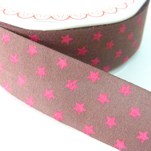25mm wide Cut Edge Star Ribbon