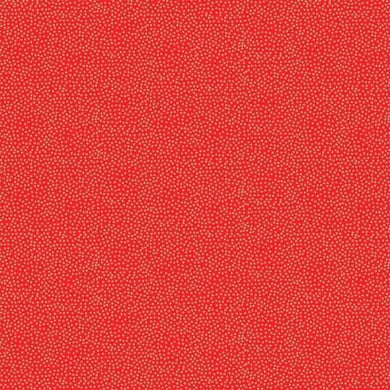 Fabric Felt Sheet - Metallic Dotty - Red