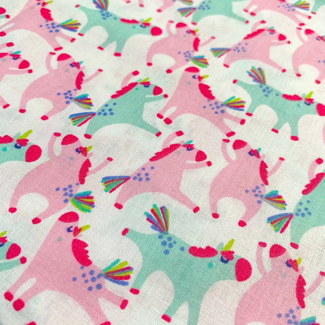 Spring Fabric Felt Sheet - Dancing Unicorns