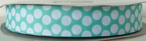 22mm wide Polka Dot Ribbon