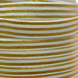 Fold Over Elastic - Metallic Stripes