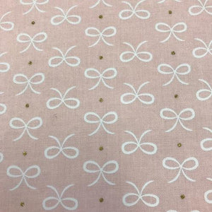 Fabric Felt Sheet - Bitty Bows - Pink