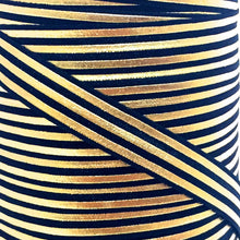 Load image into Gallery viewer, Fold Over Elastic - Metallic Stripes