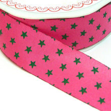 Load image into Gallery viewer, 25mm wide Cut Edge Star Ribbon