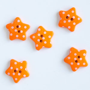 Polka Dot Star Buttons