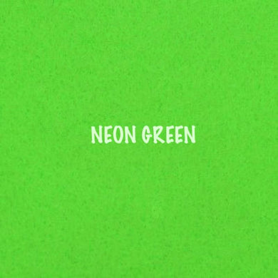 Polyester Self Adhesive Felt - Neon Green