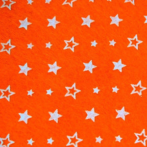 Star Patterned Acrylic Felt Sheet