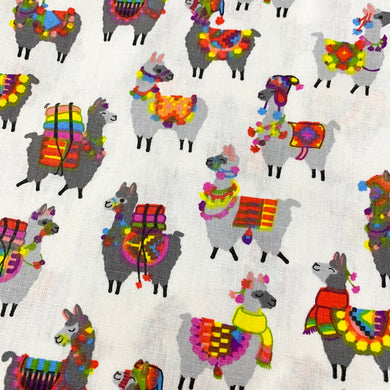 Fabric Felt Sheet - Llamas